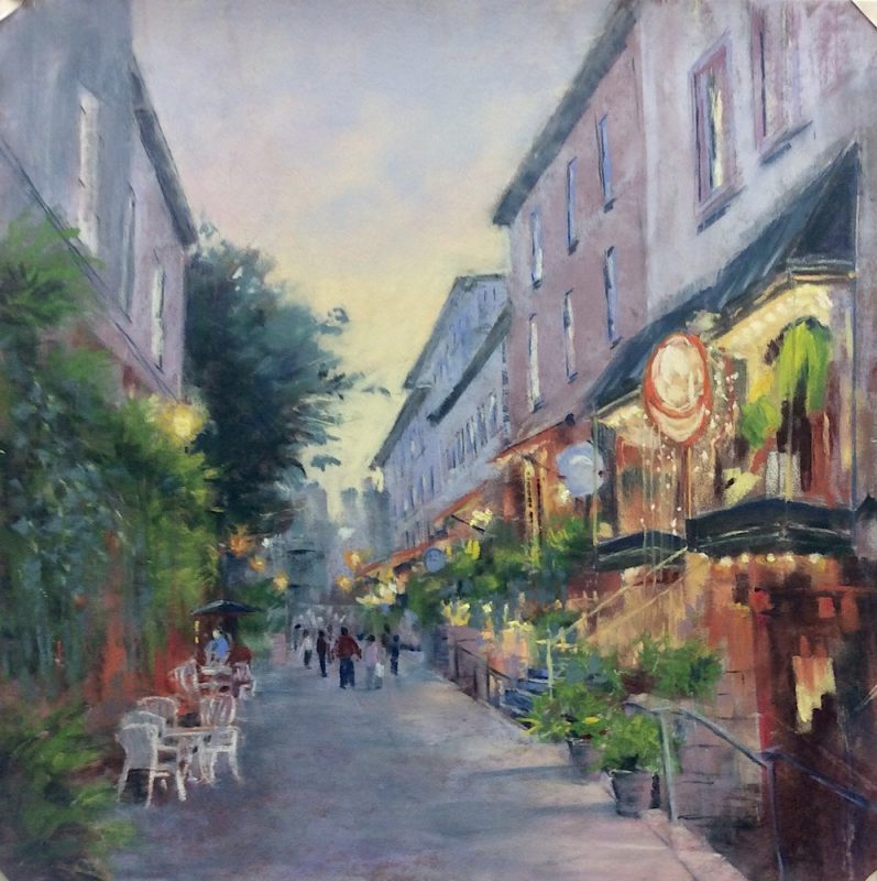 Original Painting of Old Quebec Street Scene