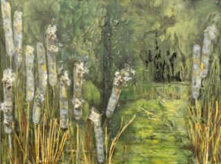 Original mixed media painting by Rosanne Dolan