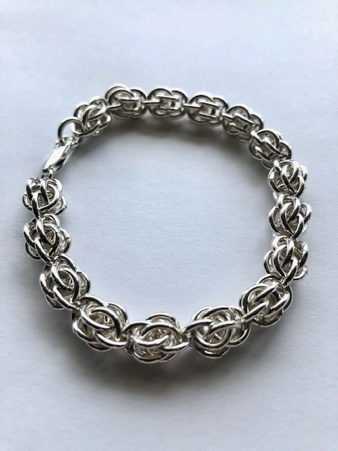 """BRACELET by Charles FUNNELL, 7 1/4"""" Sterling Silver, 16g $ 210."""