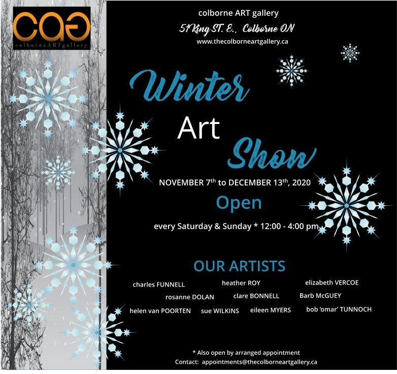 Invitation to the Colborne Art Gallery Winter Show