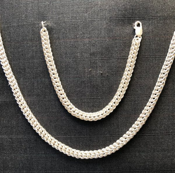 16g Byzantine Bracelet and Necklace - Sterling Silver by Charles Funnell