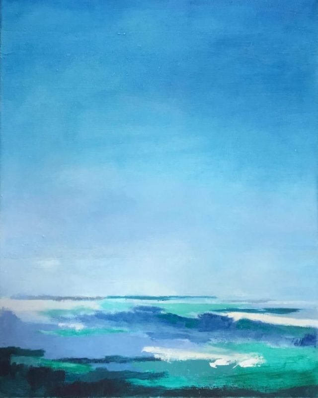 Original Oil Painting of ocean by Clare Bonnell