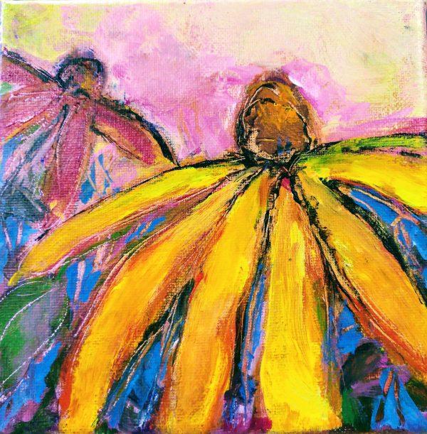 "Original Art. Mixed media, 6"" x 6"" by Elizabeth Vercoe"