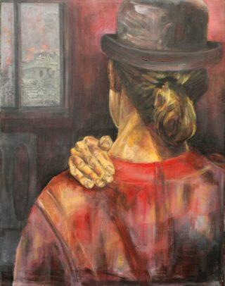 original painting, In My Corner by Rosanne Dolan
