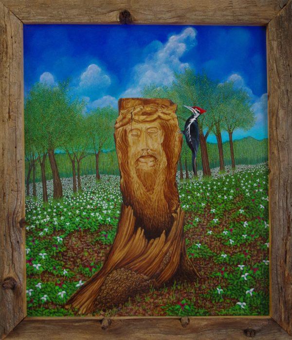 """original oil painting by bob """"omar"""" tunnoch"""