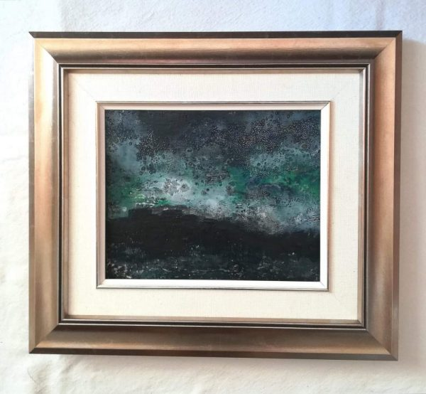 encaustic art in a frame