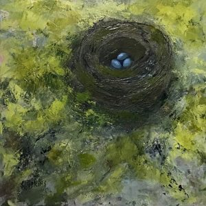 "NESTING INSTINCT VI by Sue WILKINS,Acrylic on Gallery Canvas, 20"" x 20"", $500"