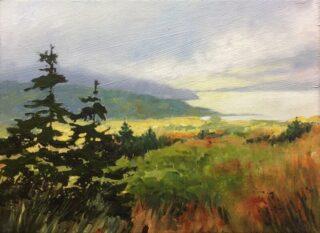 Original acrylic landscape painting by helen VAN POORTEN