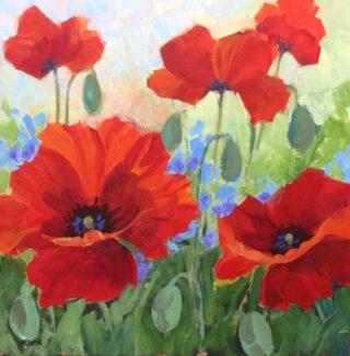 Original Acrylic Painting by helen VAN POORTEN