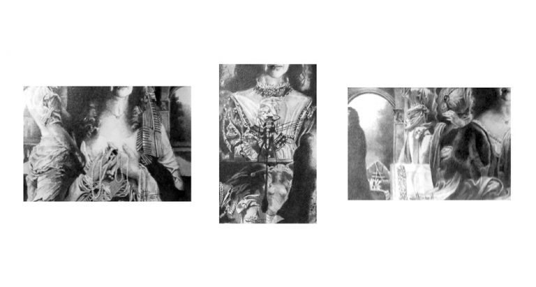Trptych graphite on paper of Eleanora Ashley