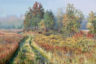 SEPTEMBER FIELDS, by Barb McGUEY, oil painting