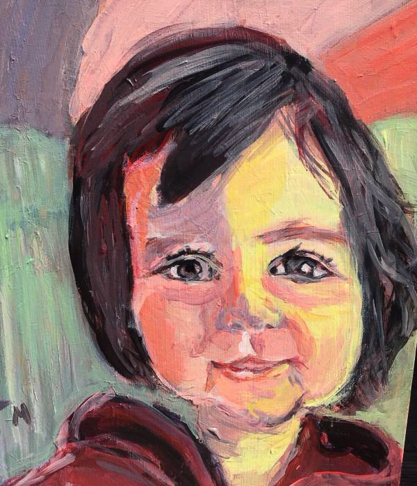 Acrylic portrait painting by Terry Marrocco