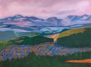 original oil landscape painting by Eileen Myers
