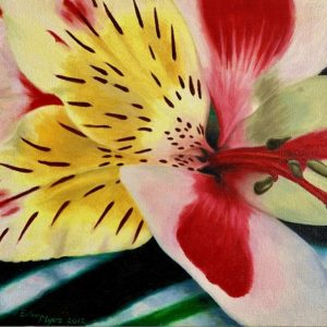 "TIGER LILY by Eileen MYERS, Oil, Gallery Canvas, 24"" X 18"", $449"