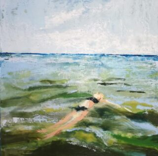 Encaustic Painting by Heather Roy