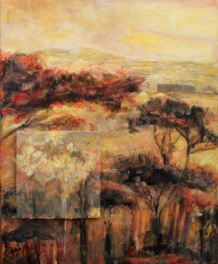 Original acrylic and mixed media painting